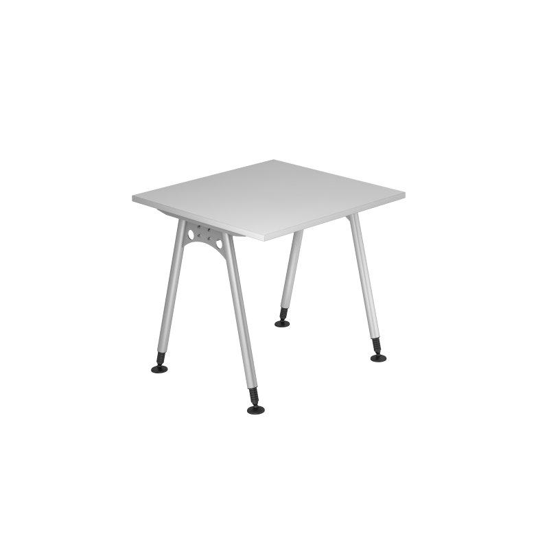 Schreibtisch klassik grau 80 x 80 cm 192 70 for Schreibtisch 70 cm lang