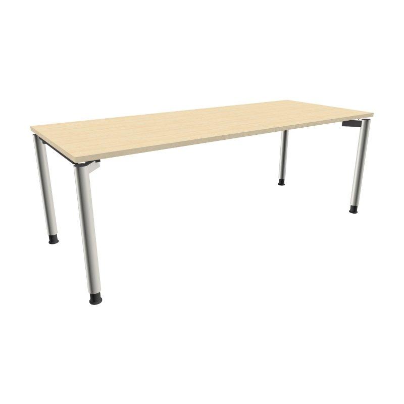 Schreibtisch mit 4 fu gestell 200 x 80 cm k nigsahorn 34 for Schreibtisch 200 x 60