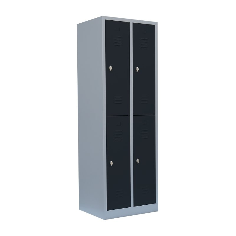 stahl kleiderschrank doppelst ckig xl 2 abteile 80 cm in versc. Black Bedroom Furniture Sets. Home Design Ideas