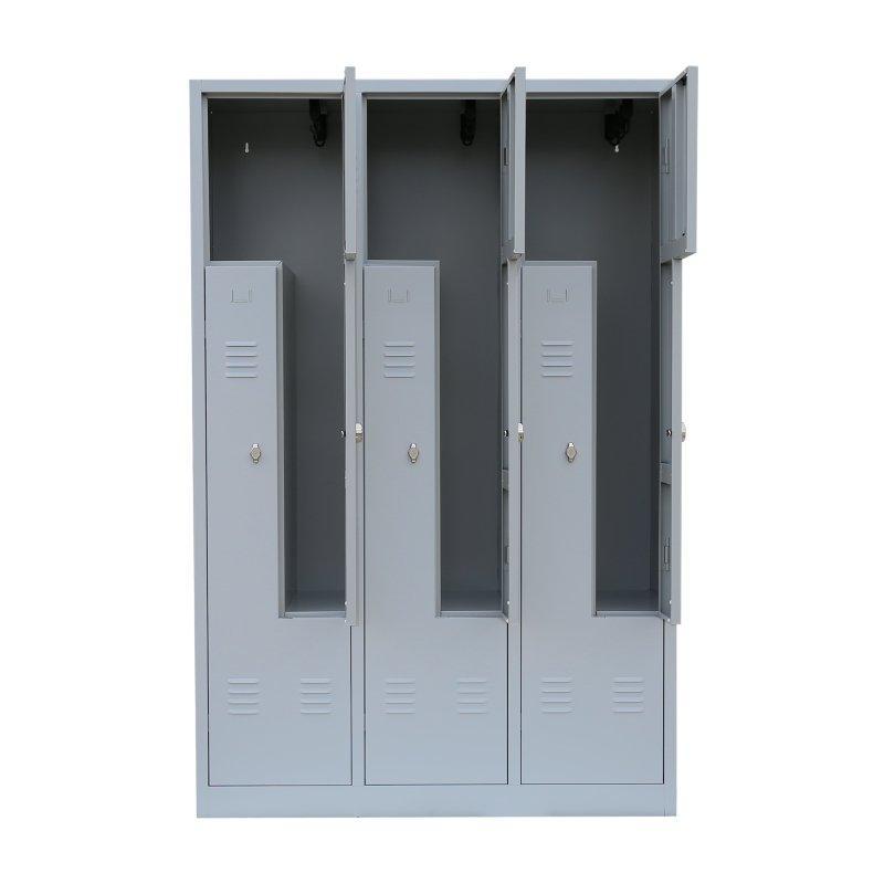 stahl z kleiderschrank 6 abteile 120 cm in verschiedenen farben 36. Black Bedroom Furniture Sets. Home Design Ideas