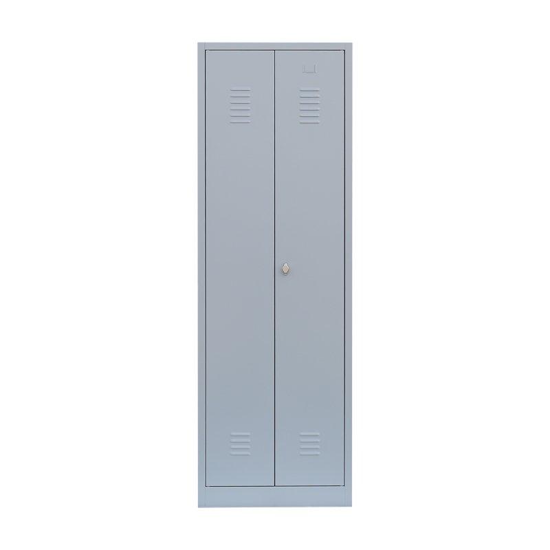 stahl kleider w scheschrank xl 2 abteile 80 cm breit ral 7035. Black Bedroom Furniture Sets. Home Design Ideas