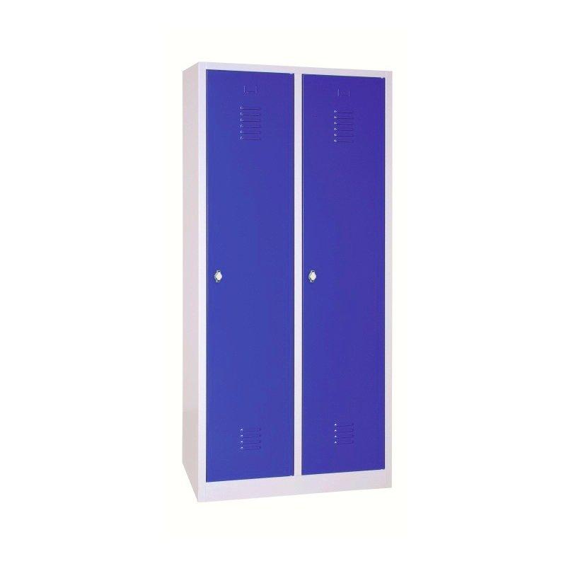 spindschrank 2 abteile 80 cm blau 228 13. Black Bedroom Furniture Sets. Home Design Ideas
