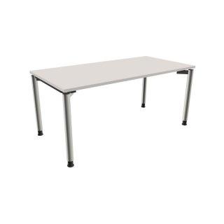 Schreibtisch mit 4 fu gestell 160 x 80 cm lichtgrau 335 for Schreibtisch 80 cm lang