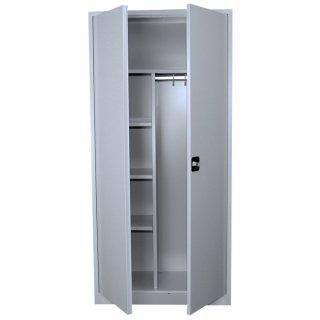 Stahl-Kleider-Wäscheschrank / Kleider-Aktenschrank, 2 Abteile, 92 cm breit in verschiedenen Farben