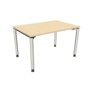 """Schreibtisch mit 4-Fußgestell """"Premium"""", 120 x 80 cm königsahorn"""