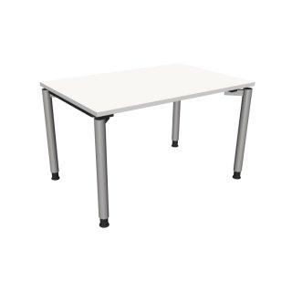 """Schreibtisch mit 4-Fußgestell """"Premium"""", 120 x 80 cm weiß"""