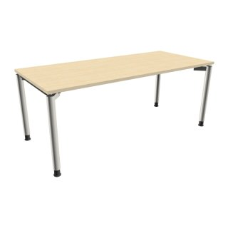 """Schreibtisch mit 4-Fußgestell """"Premium"""", 180 x 80 cm königsahorn"""