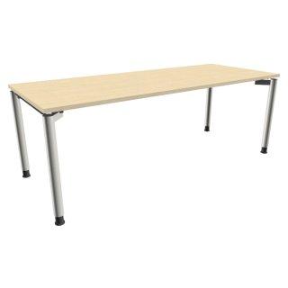 """Schreibtisch mit 4-Fußgestell """"Premium"""", 200 x 80 cm königsahorn"""