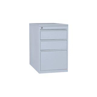 Standcontainer mit Holzabdeckung, 2 Hängeregistraturschubladen, lichtgrau / lichtgrau