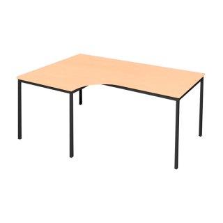 Freiformtisch 180 cm in buche - Vertiefung links