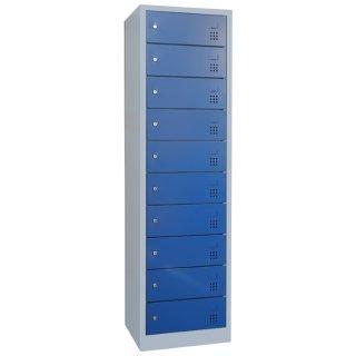 Laptopschrank, RAL 7035 lichtgrau / RAL 5010 enzianblau