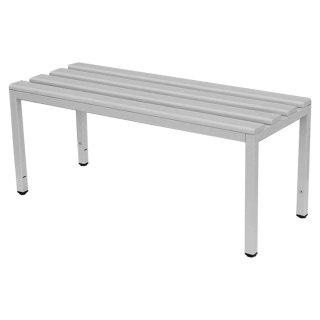 Sitzbank mit PVC-Auflage lichtgrau, ohne Schuhrost, 100 cm breit