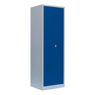 Putzmittelschrank / Besenschrank in enzianblau , Abteilbreite 30 cm
