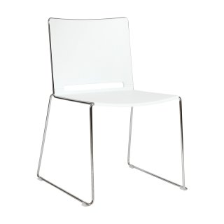 Konferenzstuhl Kunststoff in weiß