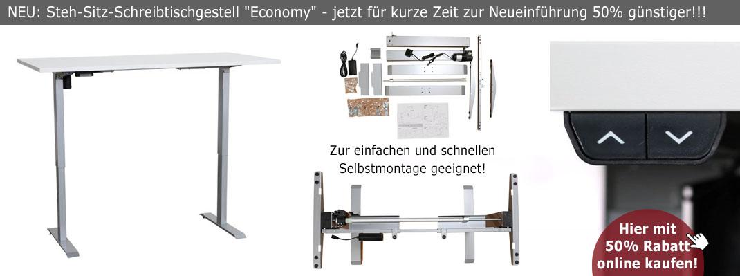 Steh-Sitz-Schreibtischgestell